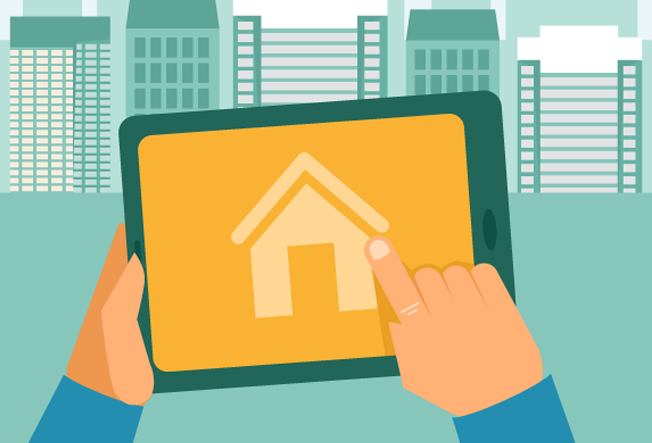 Looking for real estate crowdfunding on tablet in city