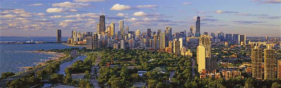 Chicago skyline overseeing real estate markets