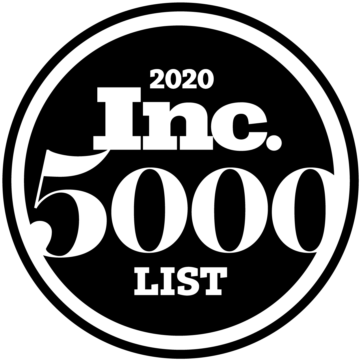For the second year in a row, we have been named to Inc. magazine's annual Inc. 5000 list, a ranking of the nation's fastest-growing private companies.